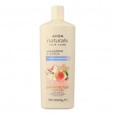"""Avon Naturals 2 в 1 Шампунь-кондиционер для волос с маслом макадамии """"Белый персик и ванильная орхидея"""", 700 мл"""