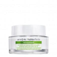 """Avon Nutra Effects Матирующий дневной крем для лица """"Контроль за жирным блеском кожи"""" SPF 20, 50 мл"""