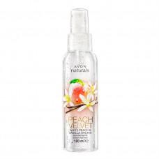 """Avon Naturals Освежающий лосьон-спрей для тела """"Белый персик и ванильная орхидея"""", 100 мл"""