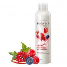 Avon Naturals Йогуртовый освежающий крем-гель для душа с ароматом лесных ягод и граната, 200 мл