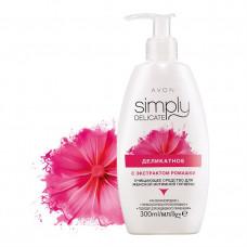Avon Simply Delicate Деликатное очищающее средство для женской интимной гигиены с экстрактом ромашки